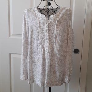 J.Jill 100% Linen Shirt